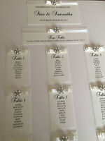 PERSONALISED A3 / A2 PEARL CLUSTER WITH DIOR BOW WEDDING SEATING PLAN