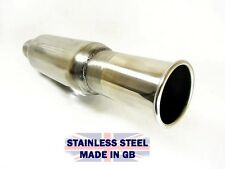 """New Bomb Exhaust Pipe Bullet Silencer Box with 3"""" Round Tailpipe Tip 2.25 cherry"""