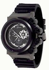 New Black Oversized Luxury Mens Geneva Silicone Designer Watch