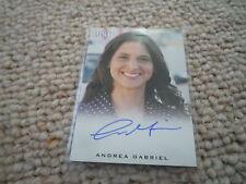 Andrea Gabriel SIGNED AUTOGRAFO Lost Limit. Rittenhouse Trading Card