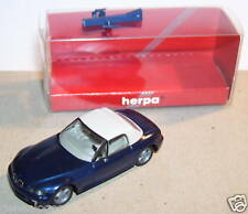 MICRO HERPA HO 1/87 BMW Z3 SOFT TOP  BLEU FONCE IN BOX