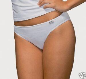 3 Hanes WHITE Ladies Cotton Briefs Knickers Slips