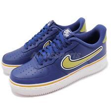 a339bc95d553 Nike Air Force 1  07 Lv8 Sport NBA Mens Aj7748-400 Royal Gold Shoes