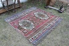 "Vintage Handmade Turkish Oushak Area Rug  62""x59"",157x150cm"