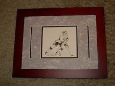 Seldom Seen Framed Image of Hockey Legend Guy LaFleur by Leroy Neiman