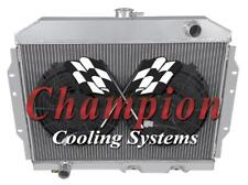 "4 Row Performance Champion Radiator W/ 2 12"" Fans for 1968 - 1974 AMC AMX #MC407"