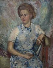 Junge Frau sitzend. Klassische Moderne um 1930. MARIANNI PAWLA.