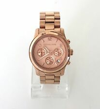 Original Michael Kors señora reloj cronógrafo fecha Rosé rosa acero inoxidable mk5128 nuevo