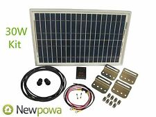 Newpowa 30w Watt Panel 12v Solar Battery Charging System Kit Marine RV DIY