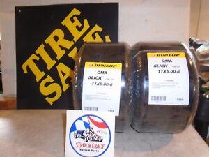 RACING GO KART NOS DUNLOP TIRES 11x5.00-6 VINTAGE CART PART DRIFT TRIKE X2