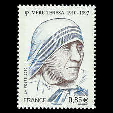 France 2010 - 100th Anniversary of the Birth of Mother Teresa - Sc 3819 MNH