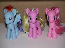 My Little Pony Set of 3 RAINBOW DASH * PINKIE PIE * FLOWER WISHES G4 Hasbro MINT