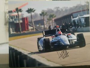 Autograph picture INDY James Hinchcliffe #77 Honda