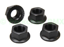 "BMX bicycle flanged axle nuts - SET OF 4 - 3/8"" X 26T - BLACK OXIDE"