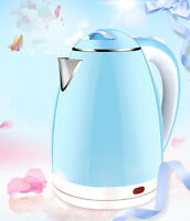 Sky Blue Stainless Steel Capacity 2L Home Kitchen Electric Kettle