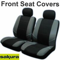 Universal Neo Front Seat Covers Inc Headrests Black & Grey Washable Airbag Safe