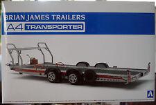 Brian James A 4 Trailer Autoanhänger Transporter 1:24  Aoshima 052600 neu 2017