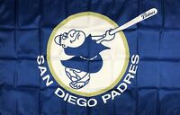 San Diego Padres MLB Flag 3x5 ft Blue Sports Baseball Banner Man-Cave Garage New