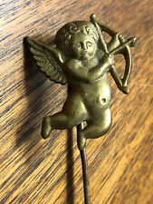 Vintage Victorian Brass Cupid Bookmark