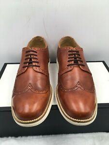 Cole Haan Lunargrand C20778 Wingtip Oxford Brown Leather Lace up Men's Size 9 M