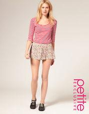 New ASOS Petite Floral Culotte Shorts Size 12 Medium M BNWT