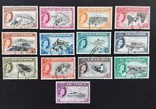 Ascension QEII 1956 Used Set Of 13 Values SG 57/69 (cat £80)