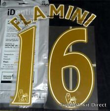Arsenal Flamini 16 Premier League Football Shirt Name Set Gold Lextra