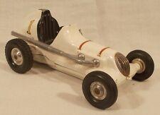 VINTAGE 1950's ROY COX THIMBLE DROME CHAMPION TETHER RACE CAR #1 WHITE