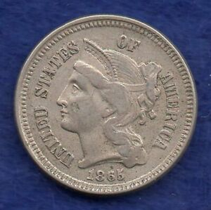 USA, 1865 3 Cents (Ref. c5993)