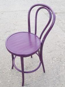 Purple bentwood Stool bar chair assembled quality