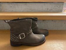 FELMINI - coole Boots Stiefelette Leder braun mit Nieten -  NEU Gr 37  S37d
