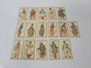 """Bulk Lot, 16x """"Characters from Dickens"""" Cigarette Cards, John Player & Sons"""