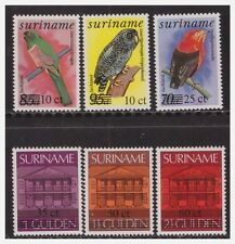 Surinam / Suriname 1986 Bank and Birds overprint Owl Parrot MNH