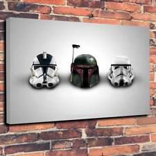 "STAR Wars CASCHI stampato tela A130""x20 ""Deep 30 mm TELAIO Boba Fett Stormtrooper"