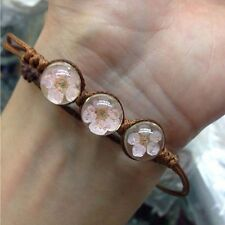 Dried flower bracelet blossoms living flower time gem Hand woven bracelet