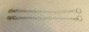 QUALITY - Western Vintage Parade Bridle Reins Chains - Silver - NO RESERVE -LOOK