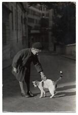 U111 Photographie vintage Originale Un air de Doisneau écolier chat cat uniforme