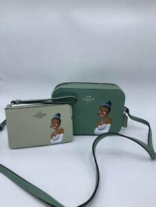 NWT Disney X Coach Tiana Princess Mini Camera Bag & Wrislet Bundle Good Deal!!