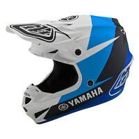 Troy Lee Designs Se4 Polyacrylite Yamaha L4 White Blue Helmet