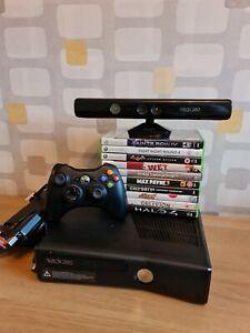 Xbox 360 Slim 250GB Mega Bundle Controller & Kinect + 10 x Games