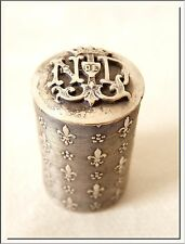 ANTIQUE 1900's FRENCH NOTRE DAME - OUR LADY LOURDES CAPSULE LOCKET CASE & ROSARY