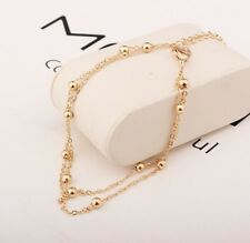 Gold Coloured Ball Chain Anklet.