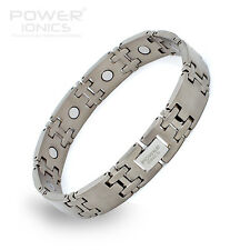 Power IONICS 100% Natur Titan mit / stark Magnetfeldtherapie Armband