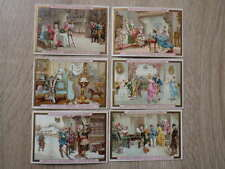 (PC) 6 x CHROMO TRADE CARDS LIEBIG S 351 (355) Noel dans divers Pays (1892)