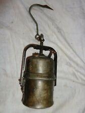 alte französische Petroleumlampe oder Karbitlampe, ca. 1, 2 kg, ca.23 x 9 cm