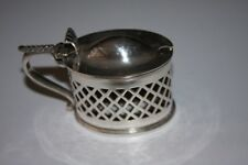 Pretty little oval EPNS condiment pot - no glass or spoon