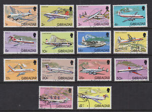 Gibraltar 1982 Used FU Part Set Definitives Aviation Airplanes Hawker Vickers