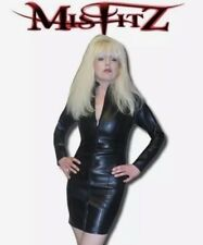 Misfitz leather look mistress dress 2 way zip.Sizes 8-32 or made to measure TV