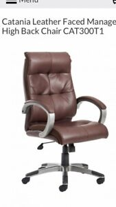 Brand New Catania Brown Leather Executive Office Chair
