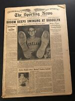 1943 Sporting News CLEVELAND Indians MIKE NAYMICK No Label BABE RUTH Returns